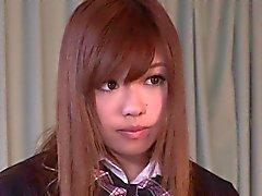 Svegli giapponese studentessa di ricevuto un creampie