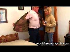 Big Tit Girl Does Old grandpa