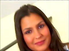Hoad för brunett Tonåring dped
