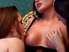 Hot Euro Glamour Lesbian Threesome