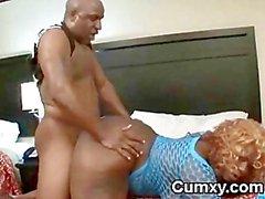 Getto Chuby Fett Slut- Fucked On Bett
