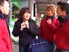 Bodacious Japanese chick loses her clothes and enjoys two s