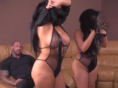 2 Amazing Latinas with Big Bootys in Threesome - AP