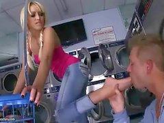 Breanne Benson enjoys nasty footsex
