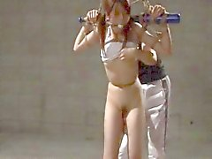 Inviting Japanese chick drilled with a dildo