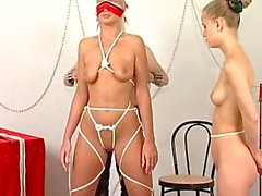 Two blonde chicks go for first time