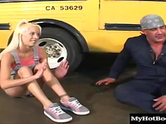 Desire Moore is a petite blonde teen with a tight teen pussy