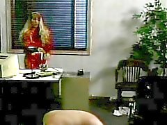 Mistress spanking stud in the office