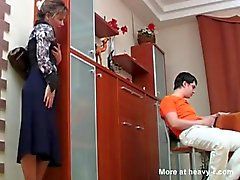Russian Mom Caught Her Son Masterbating