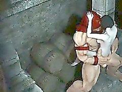 Furbo immagini 3D cartone animato ragazza si ritrova fottuto dalla Juggernaut
