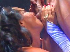 Sandra Romain double penetration and facial cumshot