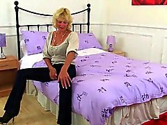 British grannies Molly and Zadi wear sexy nylon tights