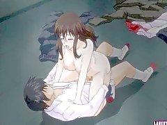 Schoolgirl hentai suce et se fait baiser