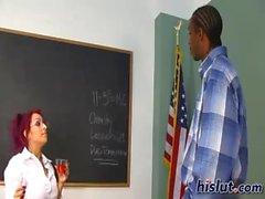 Raven is a school teacher