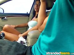 Stranded Teens - Mia Hurley trades ass for gas
