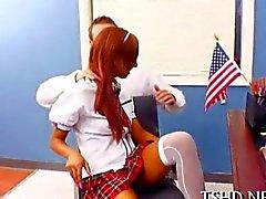 Lycéenne Latina maigres séduit les son maître