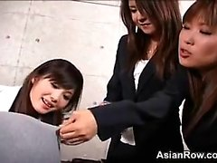 Asian Punishes A Guy With A Strap-On