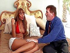 Bella Moretti pleasuring hard boner