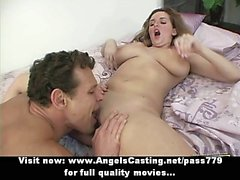 Sexy amateur brunette babe licked and fucked hard and riding cock