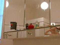 Good morning sleek teenie in the bath