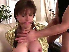 Mature british lady sucks while bound