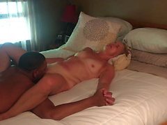 Gilf milf wife Jan massage and cream pie on her bed #7
