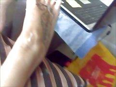 cumin ova jaynes feet then she cums even better