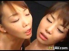 Japanese Girls Getting Cummed On