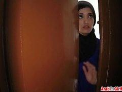 Arab girlfriend hotel room doggy style fucking