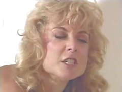 Affectionate beaver with a winsome slot machine, Nina Hartley, does Tom Byron