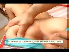 Tina Yuzuki innocent Cinese ragazza ottiene figa leccato