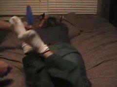 Heppu kutittaa Vaimo Tiny Koko 4 jalkojen # kolme - Socks , jaloin , upperbody