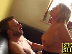 Smoking hot MILF Amy enjoys every second of rough pounding