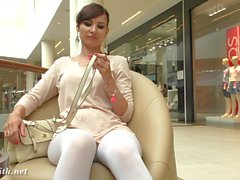Jeny Smith - white pantyhose spycam
