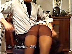 Spanking in panty