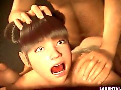 Asian 3d girl gets fucked deep from behind