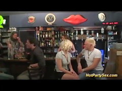 blonde teen banged at the cocktail bar