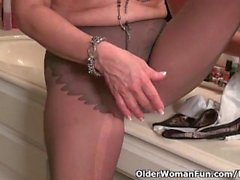 America's hottest milfs in pantyhose collection