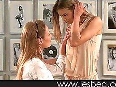 Lesbian virgin loves fit body of older woman