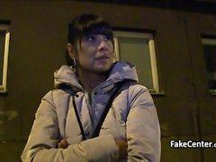 Fake casting agent fucks hot milf outdoors