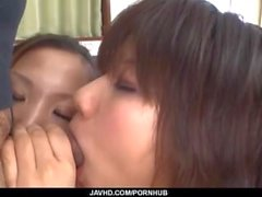 Ai nashi, Japan mom, enjoys cock in her shaved cherry