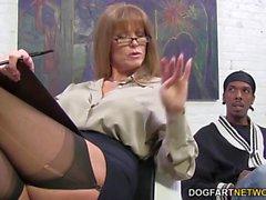 puma sexy di di Darla Gru di ottiene anale dal forte Temperatura nera