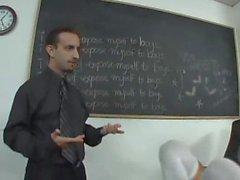 Teaching sexy schoolgirl
