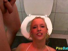 Urine gargling piss skank