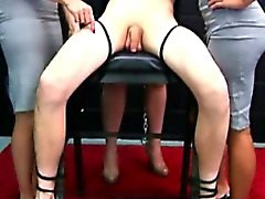 CFNM mistresses bonding dude and getting kinky
