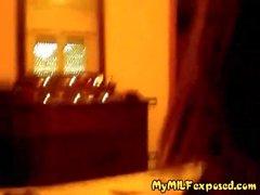 My MILF Exposed Amateur BBW wife in black stockings bj