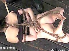 Morenaza Hogtied y pie Torturados