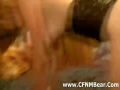 CFNM stripper fucks and jizzes party girl