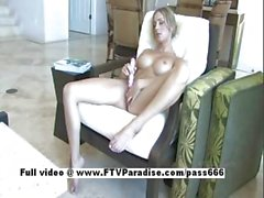 Julia ingenious amateur blonde toying