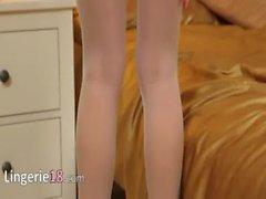 short undress in hotel room